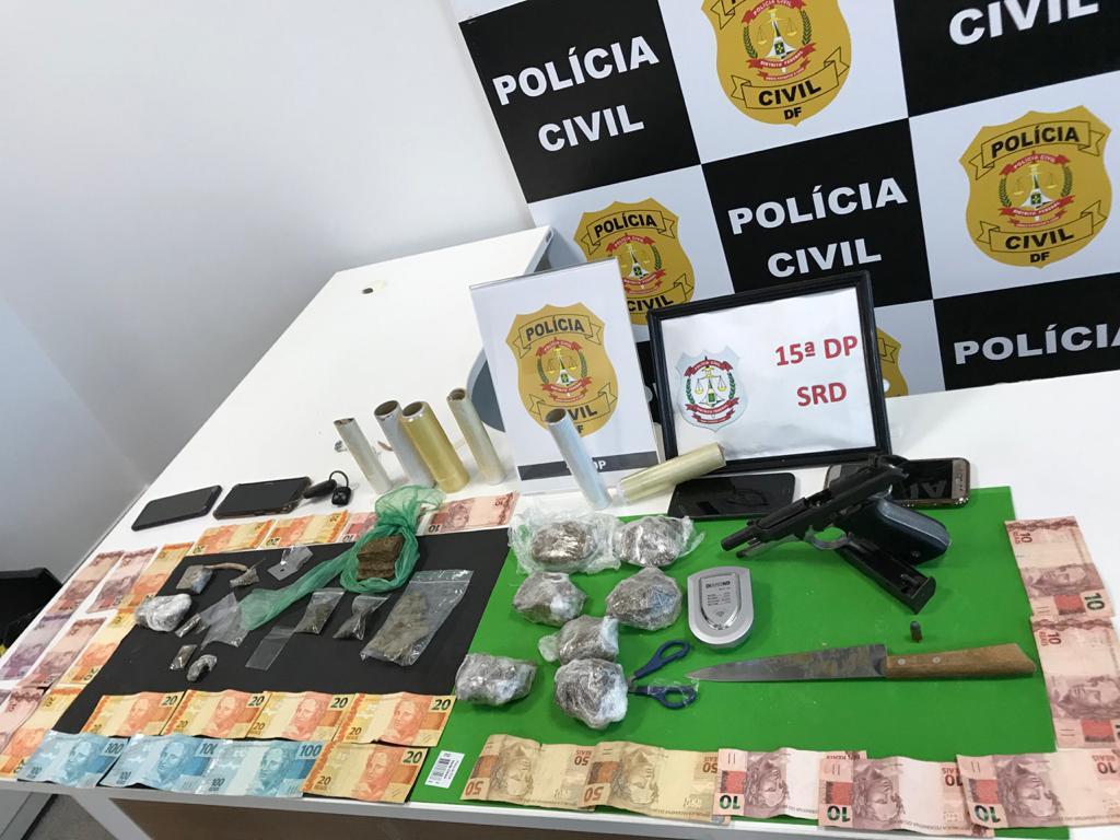 PCDF prende traficantes e apreende drogas em Ceilândia Norte
